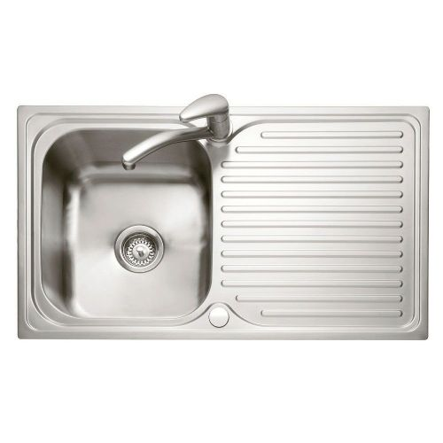 Caple Dove 100 Stainless Steel Single Bowl Inset Kitchen Sink